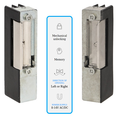 £18.99 • Buy Electric Strike Release 8-14V AC/DC Fail Secure Door Mortice Lock LEFT Or RIGHT