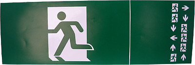 Fire Exit Escape Green Man Vinyl Adhesive Label Sticker Safety Sign DG295 • 2.49£