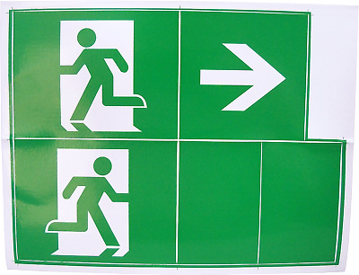 Fire Exit Escape Green Man Vinyl Adhesive Label Sticker Safety Sign Right DG239L • 2.49£