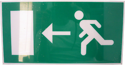 Fire Exit Escape Green Man Large Safety Sign Left • 3.99£