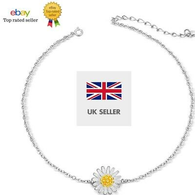 Charm Daisy Flower Silver Ankle Anklet Chain Bracelet Foot Jewelry T UK SELLER • 1.99£