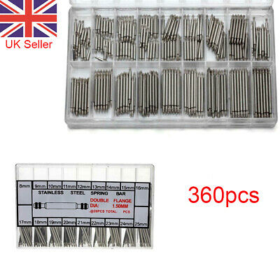 £3.90 • Buy 360pcs 8-25mm Watch Band Strap Link Pin Spring Bars Remover Removal Repair Tools