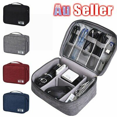 AU15.10 • Buy Electronic Accessories Cable Charger AU Storage Travel Case Organizer Bag USB
