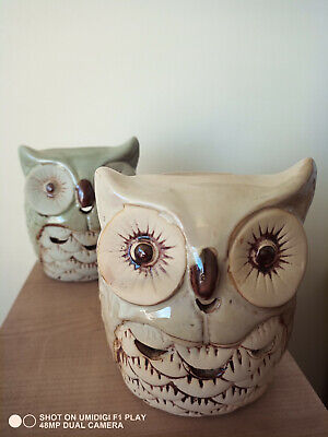 Owl Oil Burner Ceramic With Deep Bowl  Wax Melter Heart Aromatherapy  • 4.99£