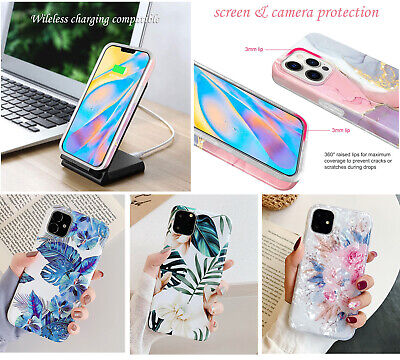 AU12.98 • Buy F IPhone 11 12 Pro Max XS XR Mini Shockproof Leave Flower Cute Girls Cover Case