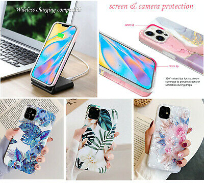 AU8.98 • Buy F IPhone 11 12 Pro Max XS XR SE Shockproof Leave Flower Cute Girls Cover Case