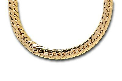 Blue Diamond Club - 18ct Gold Filled Flat Snake Chain Necklace 23 Inch Long • 18£