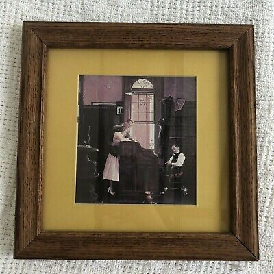 $ CDN59.99 • Buy Norman Rockwell THE MARRIAGE LICENSE 10.75in Square Framed Matted Print EUC