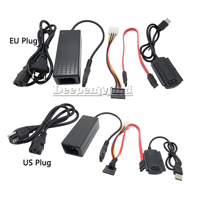 AU12.10 • Buy SATA/PATA/IDE To USB2.0 Converter Power Adapter Cable For 2.5/3.5Inch Hard Drive