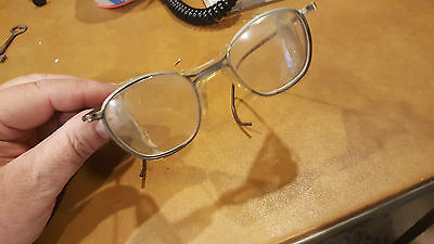$29.95 • Buy Vtg Motorcycle Safety Glasses Antique Goggles WWII Steampunk Matsuda WIRE MESH