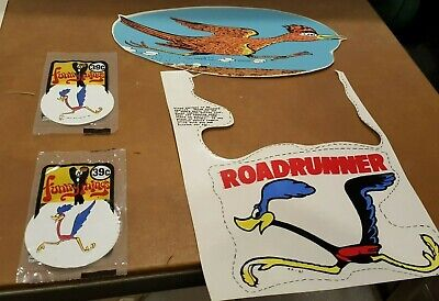 LARGE ROAD RUNNER DECALS Original Stickers   • 10.72£