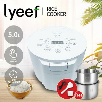AU138.90 • Buy Lyeef Multi Function Electric Rice Cooker 5L Capacity Cook With Low Sugar Rice