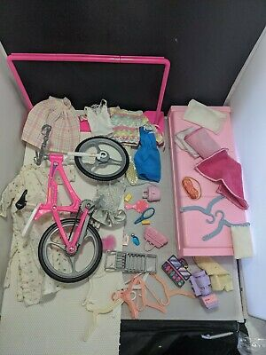 $ CDN26.42 • Buy Vintage BARBIE DOLL ACCESSORIES Perfume Clothes Bed Bike Diorama LOT 80s 90s