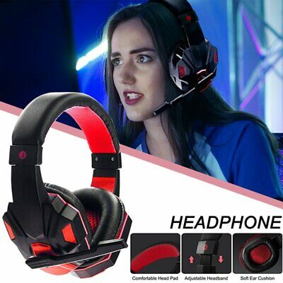 3.5mm Gaming Headset LED MIC Headphones Earphone For PC Laptop PS4 Pro Xbox One • 21.89£