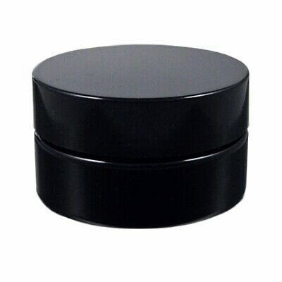 Miron Violet Glass Wide Neck Cosmetic/Herb Jar 30ml (Wide) With Black Lid • 4.99£