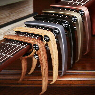 $ CDN9.59 • Buy Guitar Capo For Acoustic And Electric Guitars Quick Change Grain Clamp Dark Wood