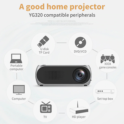 AU59 • Buy Mini LED Projector Yg300 Upgraded Version 600 Lumen 320x240 Pixels HDMI USB Audi