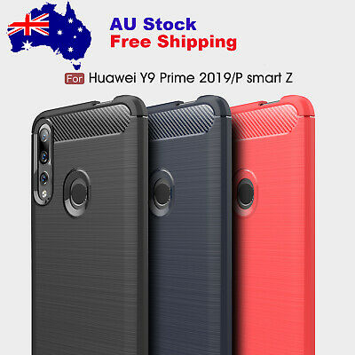 AU18.89 • Buy For Huawei Y9 Prime Y7 Pro Y5 2019 2018 2017 Slim Carbon Fiber Rugged Case Cover