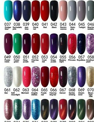 ICE Nail Gel Polish Soak Off UV LED Colour Glitter Base Top Coat Varnish UK  • 2.69£
