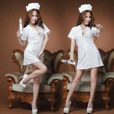 Sexy Naughty Nurse Costume Hen Do Fancy Dress Party Outfit New Women's Ladies UK • 6.99£