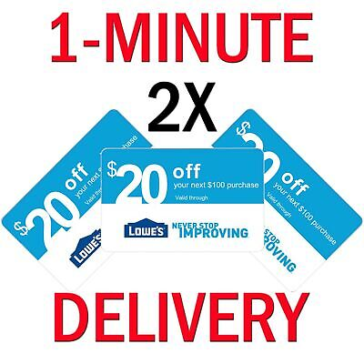 $1.25 • Buy 𝟏× (One) Home Depot $20 Off $200 ONLINE Only-1Coupon **INSTANT DELIVERY**