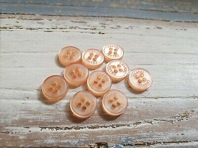 Lot Of 10 Chanel Peach Colour Shirt Buttons 10mm • 25£