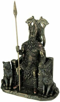 Odin In Throne Viking Norse God Statue Sculpture Collectible Figurine Art Piece • 61.01£