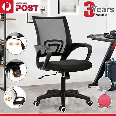 AU65.99 • Buy Office Chair Gaming Chair Computer Mesh Chairs Executive Seating Study Seat Grey