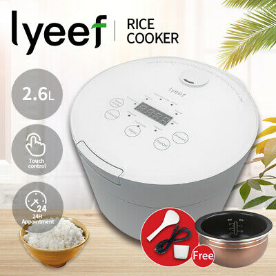 AU69.90 • Buy Lyeef Smart Multi Function Electric Rice Cooker 2.6L Capacity With Cook Steamer