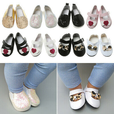 Toys Bow Leopard Leather Shoes 18 Inches Doll Sequin Casual Shoes Doll Shoes • 3.46£