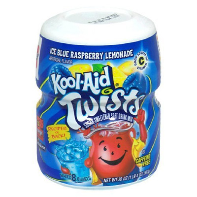 Kool Aid Blue Raspberry Lemonade Powdered Drink Mix Makes 8 Quarts 567g Tub • 12.77£