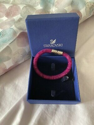 Genuine Swarovski Jewellery Stardust Single Bracelet-Fuchsia-(18cm-Small) • 13£