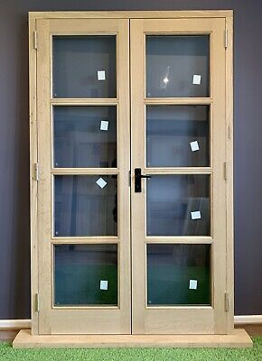 £2650 • Buy Handcrafted Solid Oak Double Glazed External French Doors Set 1200mm X 2075mm
