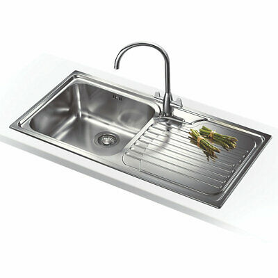 Franke Galassia Inset Kitchen Sink Stainless Steel 1 Bowl 1000 X 500mm (8045f) • 119.99£