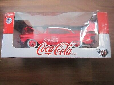 $ CDN59 • Buy 2019 M2 Coca Cola 1957 Chevrolet Bel Air Hardtop Chase Limited 500 Pcs 1:24