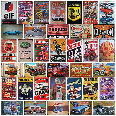 Petrol Gas Motor Oil Metal Wall Plaque | Car Motorcycle Garage Man Cave Tin Sign • 6.85£
