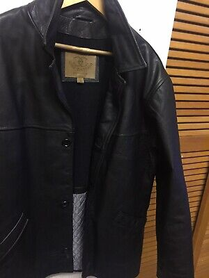 """Mens Leather Wear Winter Pea Coat Jacket By Ciro Citterio Size Uk Large """"eur Xl • 58.99£"""