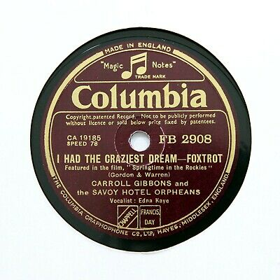 SAVOY HOTEL ORPHEANS  Can't Get Out Of This Mood  (E+) COLUMBIA FB-2908 [78 RPM] • 6.95£