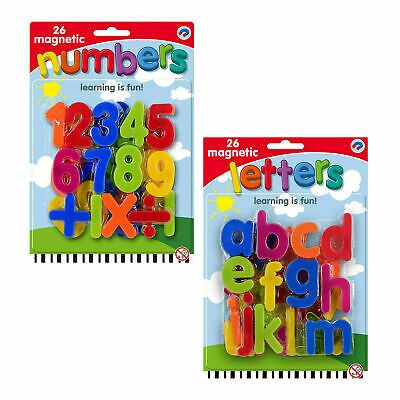£2.95 • Buy Kids Learning Teaching MAGNETIC Toy Letters & Numbers Fridge Magnets Alphabet