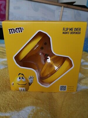 M&M's Flip Me Over Sweets Dispenser Yellow Chocolate Gift Set • 9.99£