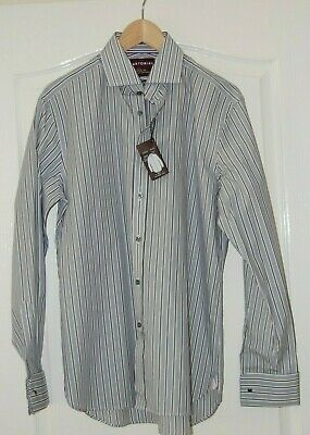 £14.99 • Buy Bnwt M&s Sartorial Timothy Everest Slim Fit Striped Extra Fine Cotton Shirt 15.5
