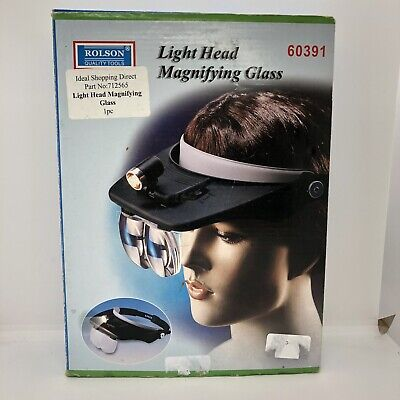 Rolson Light Head Magnifying Glass 60391 Brand New Boxed Loupe LED Visor Magnify • 20£
