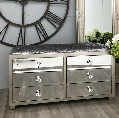 £399.90 • Buy Venetian Mirrored Chest Drawers Hall Sideboard Furniture Antique Storage Cabinet