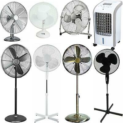 Pedestal Cooling Fan Desk Fans Oscillating Stand Standing Home Office 3 Speed • 39.99£