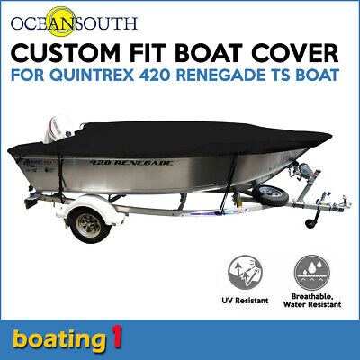 AU274.99 • Buy Oceansouth Custom Fit Boat Cover For Quintrex 420 Renegade TS Open Boat
