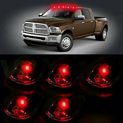 $23.09 • Buy 5X Clear Cover 12V Led Cab Roof Top Marker Running Lights Sets Truck / Suv / 4X4