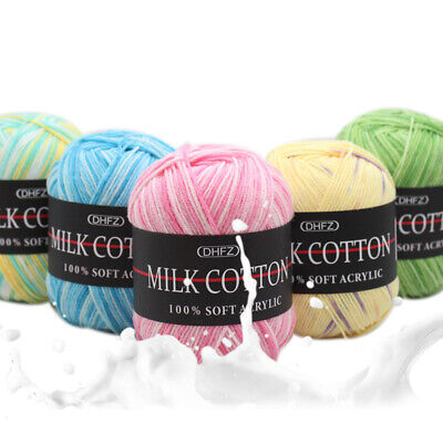 AU2.89 • Buy 20 Colors Bamboo Crochet Cotton 50g Knitting Yarn Baby Colorful Knit Wool Yarn
