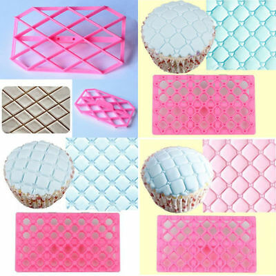 £2.34 • Buy Cake Quilting Embosser DIY Cookie Biscuit Stamp Cutter Mould Baking Decorating