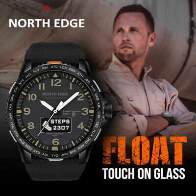 $ CDN60.49 • Buy NORTH EDGE FLOAT Smart Watch Men Waterproof 50M Sports Heart Rate Monitor