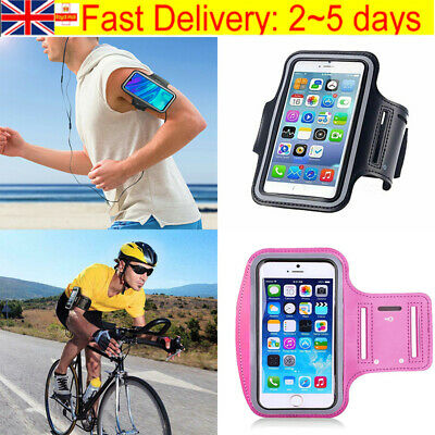 Gym Running Jogging Sports Armband Holder Case Bag For IPhone Mobile Phones • 2.99£